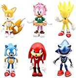 Sonic The Hedgehog Action Figures.Toppers Cute Toys Cupcake Topper Birthday Cake Toppers, Decorations or toys for kids 6pcs/set(I)