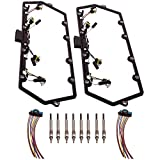 Valve Cover Gasket Harness & Glow Plug for Ford F250 F350 E250 E350 7.3L Powerstroke Diesel 1999-2003 F81Z-6584-AA
