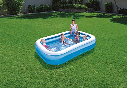 Bestway Family Pool, rectangular pool for children, easy to assemble, blue, 262 x 175 x 51 cm