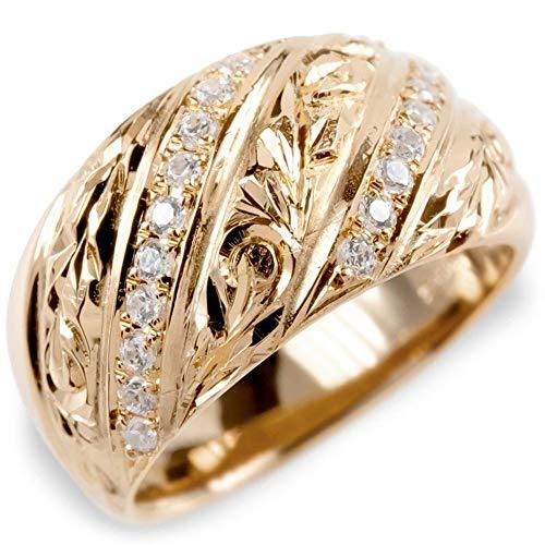 [アトラス]Atrus リング レディース 18金 ピンクゴールドk18 キュービックジルコニア ハワイアンジュエリー 指輪 ピンキーリング 幅広 26号