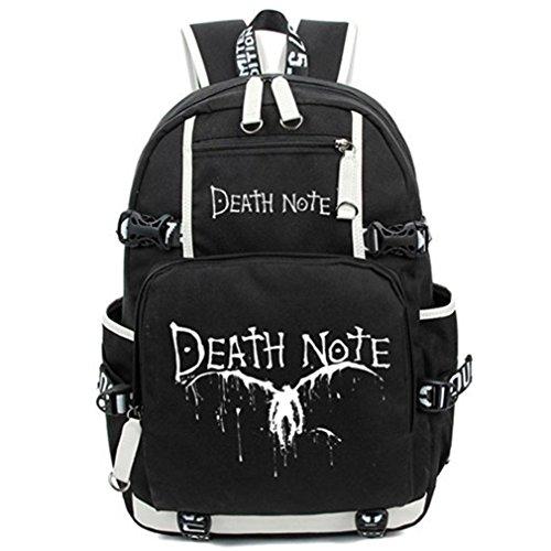 Bromeo Death Note Animado Luminoso Mochila Bolsas Escolares Cartera Colegio Bolso