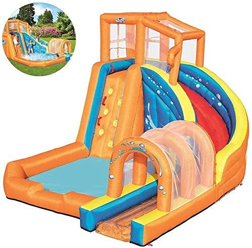 ZHUYU Inflable gorilas niños Castillo Hinchable Juguetes de Agua con tobogán Escalada Piscina y Aire del Ventilador de Zona de Juegos al Aire Libre del jardín Infantil, 420 * 320 * 260cm