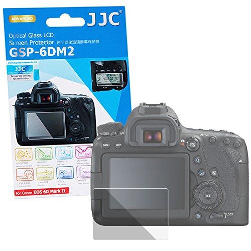JJC Hochwertiger Displayschutz Screen Protector aus gehaertetem Echtglas, passend für Canon EOS 6D Mark 2