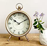 Vintage Table Clock on Stand, Decorative Desk and Shelf...