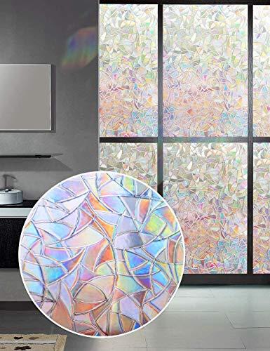 Etiqueta engomada Opaca de la Ventana de la privacidad del Arco Iris,Etiqueta engomada del vitral del Vinilo 3D,película...