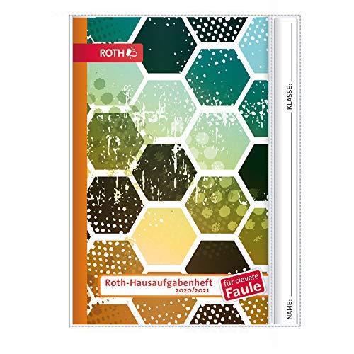 ROTH Hausaufgabenheft Superteens Pattern Style für clevere Faule - A5 mit Kalendarium Schuljahr 2020/2021 mit Hülle