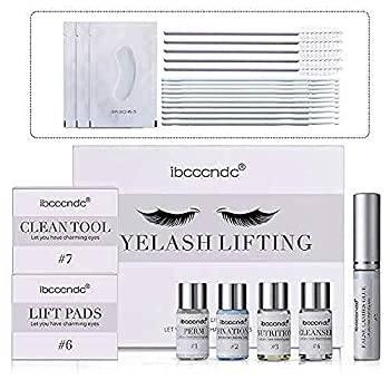 Lash Lift Kit Eyelash Perm Kit Professional Luxsea Complete Eye lash extension Set Semi-Permanent Perm Lashes Lashes Curling Perming For Salon Home DIY-Self With Glue Gift Sets For Women Girls