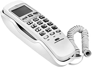 Landline Wall Phones,Wired Wall-Mounted Landline Mini Extension with Incoming Call Display,One-Button Redial,Call Search,T... photo