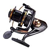Fafeims 12 + 1BB Carrete de Pesca de fundición Carrete de Pesca metálico de Alta Velocidad Taza de Alambre de Pesca para Agua Salada Agua Dulce(11000)