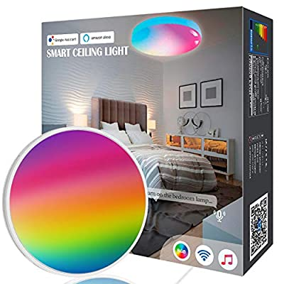 OHLUX Smart Light Bulbs, BR30 WiFi Flood Lamp, 10W 800LM, App Remote Control, Dimmable Multicolored LED, E26, 100-240V, Compatible with Alexa Google A