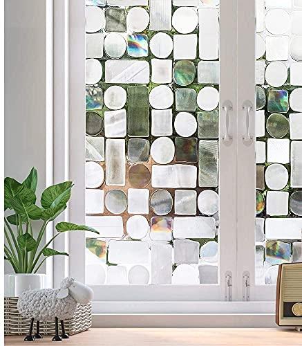 LMKJ Sichtschutz Fensterfolie klebstofffrei selbstklebend 3D statische dekorative Glasaufkleber Heimküche Büro UV-Aufkleber