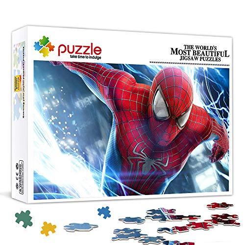 WBLWBL Puzzles pour Adultes 500 Pcs The Amazing Spider Man Peter Parker Jeux de Puzzles Amusants Jeu de Puzzle de soulagement du Stress pour Enfants et Adultes 75x50cm