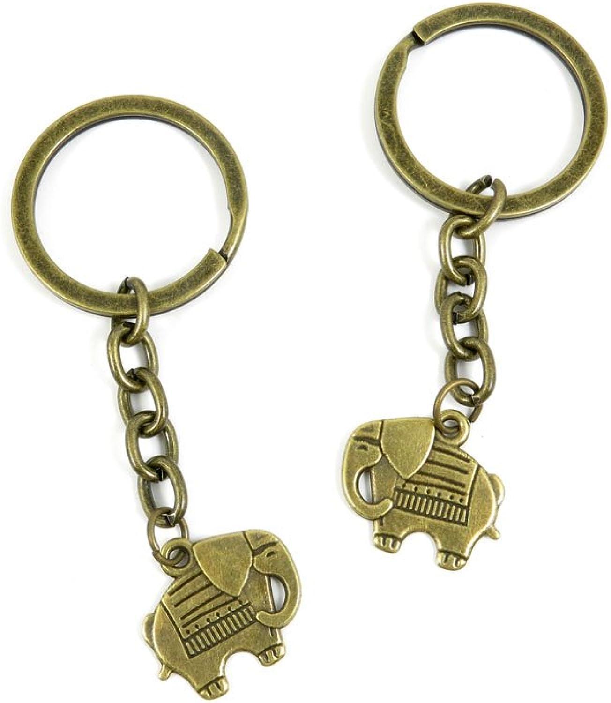 200 Pieces Fashion Jewelry Keyring Keychain Door Car Key Tag Ring Chain Supplier Supply Wholesale Bulk Lots E6BF1 Thai Elephant