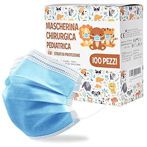 100 Pezzi Mascherine Bambini, Mascherine Bambini Colorate A 3 Strati Ultraleggere Con Nasello Regolabile Confezionate In Pacchetti Singoli Da 10 Pezzi Ciascuna