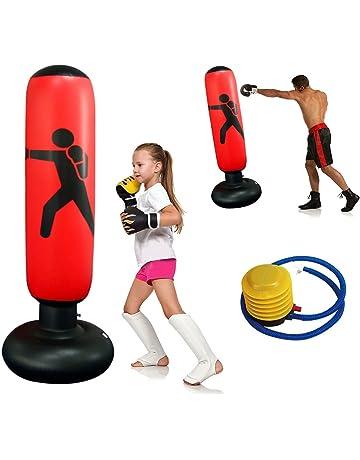 sacco da boxe pesante Kick Training Sacco a torre gonfiabile Bicchiere autoportante Sacchetto sabbia Bambini Fitness Sport Gioco Adulti Sacco da boxe antistress Box da 155 cm Sacco da boxe da fitness