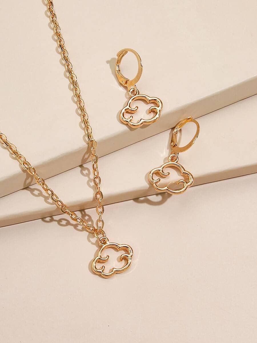 ZHAWE cheap Women's Jewelry Set Series Cloud S Gold 3pcs Decor outlet
