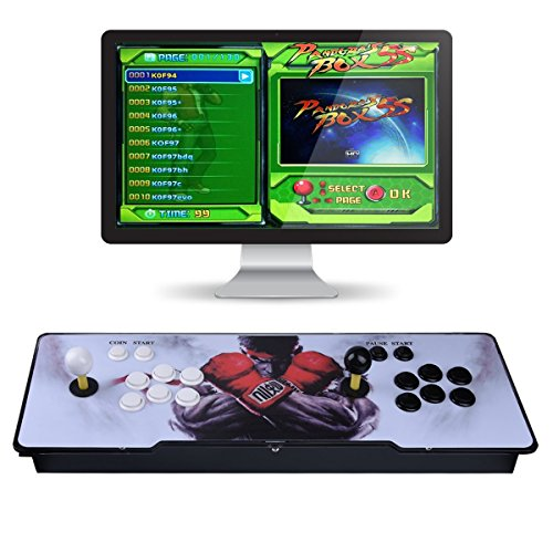 TAPDRA 0000008 Máquina de vídeo clásica, 2 Jugadores Pandora Box 5S Multiplayer Home Arcade Consola 1299 Juegos Todo en 1 Non-Jamma PCB Doble Stick Nuevo Diseño Botones Power HDMI