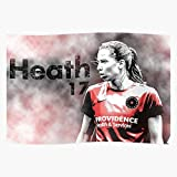 kineticards Portland Preath Tobin Soccer Heath 17 USWNT Thorns | Home Decor Wall Art Print Poster