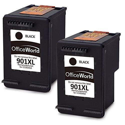 OfficeWorld 901XL (2 Nero) Remanufactured Cartucce HP 901 XL Compatibile con HP Officejet J4580 J4680 J4500 J4600,HP Officejet 4500 J4560 J4524 J4540 J4585 J4624 J4640,HP Officejet g510a g510g G510n