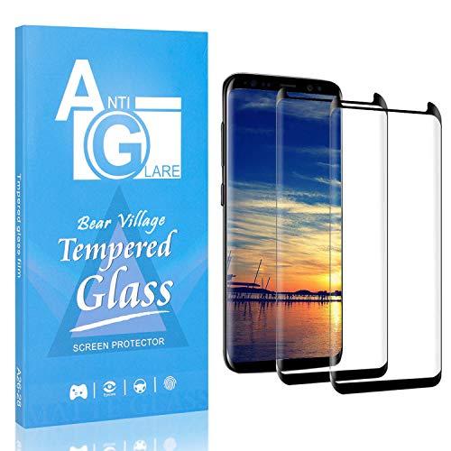 Bear Village Verre Trempé Compatible avec Galaxy S9 Plus, Dureté 9H Film Protection Écran Vitre pour Samsung Galaxy S9 Plus, Anti Rayures, Ultra Mince, 2 Pièces