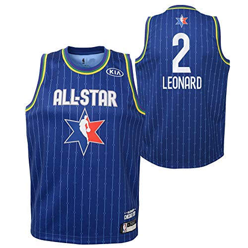Youth 2020 NBA All-Star Game Kawhi Leonard Blue Swingman Jersey Youth Sizes (Youth Large (14/16))