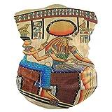 LZXO - Bandana estilo retro con historia de papiro egipcio sin costuras, para exteriores, pasamontañas, protector de cuello, bufanda, para protección contra el polvo, el viento y el sol