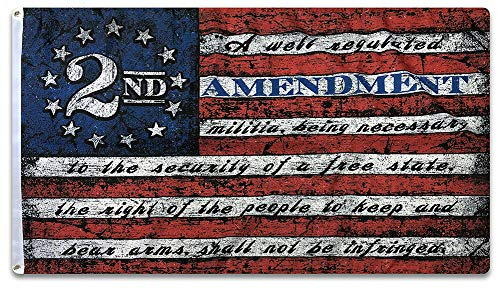 This We'll Defend 2nd Stars & Stripes Flag 3 ft by 5 ft Designed in USA 3x5 Vintage American Flag Patriotic Decor Wall Art Man Cave