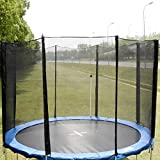 Supershop 12FT Round Trampoline Enclosure Safety Net Fence Replacement W/Sleeves 8 Poles