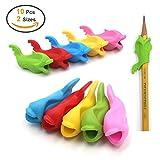 Firesara Bleistift Grips Silikon Universal-Ergonomische Dolphin Stil für Rechtshänder Kinder,...