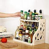 Qisiewell Especiero práctico especiero para armario de cocina y superficie de...