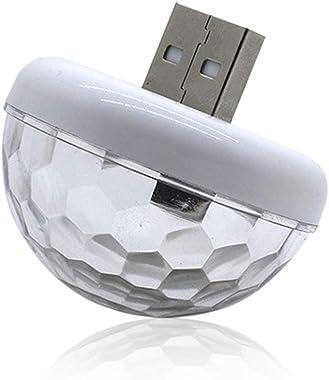 Ordertown Veilleuses, Projecteur De Veilleuse étoile, Lampe De Nuit Star Sky, Mini USB LED Contrôle du Son De La Musique Veil