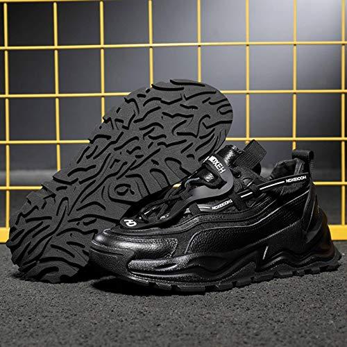 N-B Four Seasons Sports Low Viscosa Top Transpirable con Cordones Zapatos de Tela de Malla de Invierno Punta Redonda Zapatos Negros para Hombre