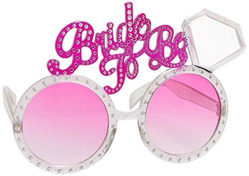 takestop® Gafas de sol de cristal rosa Bride TO BE Diamante Sun_7536 para despedida de soltera, novia, novia, hen fiesta, fiesta de bienvenida