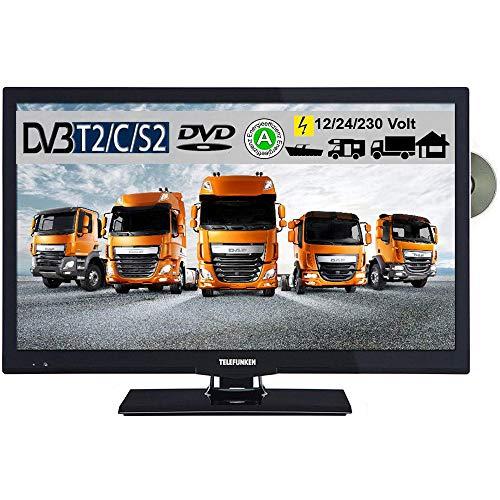 Telefunken T22X740 MOBIL LED Fernseher 22 Zoll 55 cm TV mit DVD DVB-S /S2, DVB-T2, DVB-C, USB, Energieeffizienzklasse A, 230V / 12V / 24V inkl. Spannungswandler
