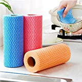 REAL Quality Kitchen Reusable Super Absorbent Cleaning Wipes Towel Roll - Pack of 3 Rolls (240 Pulls)