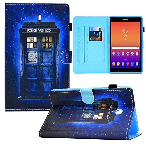 Galaxy Tab A 8.0 2017 Case, RASUNE PU Leather Multiple Viewing Angles Card Slot Case with Auto Sleep/Wake Feature Case for Samsung Galaxy Tab A 8.0 Inch 2017 Tablet Model SM-T380/T385 -Police Booth