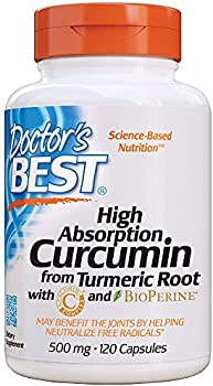 120-Count Doctor's Best DRB-00107 High Absorption Curcumin Capsules