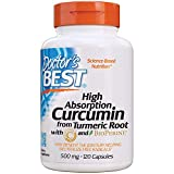 Doctor's Best Curcumin from Turmeric Root, Non-GMO, Gluten Free, Soy Free, Joint Support, 500mg Caps with C3 Complex &...