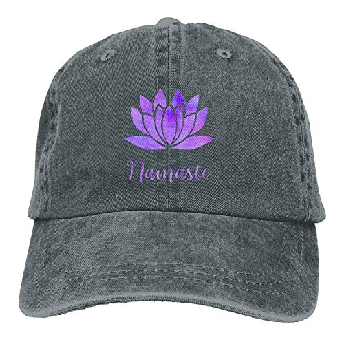 Preisvergleich Produktbild uykjuykj Baseball Caps Hats Funny Bag Namaste with Lotus Flower Denim Hat Unisex Dad Baseball Hats Adjustable Unique Personality Cap Baseballmütze