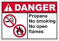 ヴィンテージレトロメタルサインインチ、プロパン禁煙ノー直火危険サイン、バーヴィンテージキッチンサインヤードガーデンコーヒーパブホームギフトアートインテリア