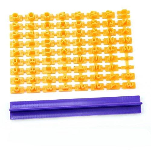 Estone diseño de letra para galletas sello para galletas con forma de números de repostería herramientas de decoración para tartas