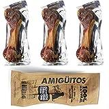 3 Pcs Hueso Jamon para Perros Natural al Vacio Grande Fortalecedor de Dientes Stick Dental Dog Snack 20 cm (Cada Unidad 340-350g) BPS-7613 * 3