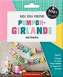 Ruck, zuck kreativ - Pompon-Girlande zum Bemalen (100% selbst gemacht)