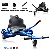 Go Kart Hoverboard Seat Attachment Accessories Hover Board Cart for Adults Kids Self Balancing Scooter Compatible with 6.5'' 8'' 10''...