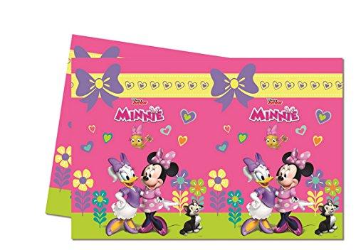 ILS I LOVE SHOPPING Tovaglia di plastica 120 x 180 cm per Festa Compleanno (Minnie Happy Helpers, Tovaglia)