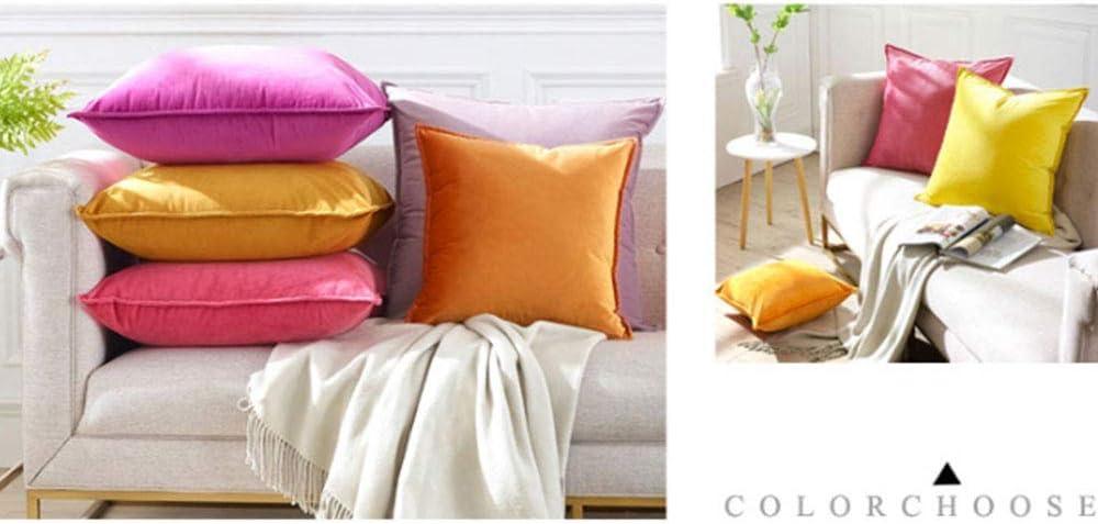 JIN MOON Super moelleuses de Taie, décoratif Multi-Couleur carrée Taie Couverture Sofa Horizontal Voiture 18 « X 18 »,Peachpollen Retrored