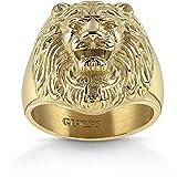 Guess Herren-Herrenring Edelstahl Kristall 66 Gold 32005674