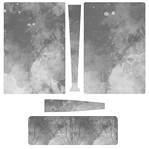 Las pegatinas de consola y controlador PS5 con textura de mármol blanco...
