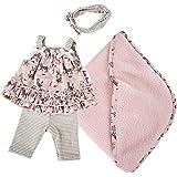 Käthe Kruse 0130806 Leopardenmotiv Outfit 30-33 cm, rosa