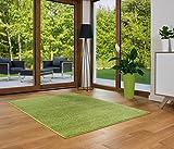 LUKSUS Designer Teppich Friese Einfarbig Modern Verschiedene Größen Grün (160x230)